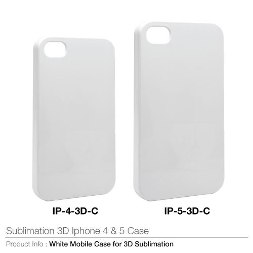 Sublimation 3D iPhone 4 & 5 Case (IP-4-3D-C, IP-5-3D-C)_2