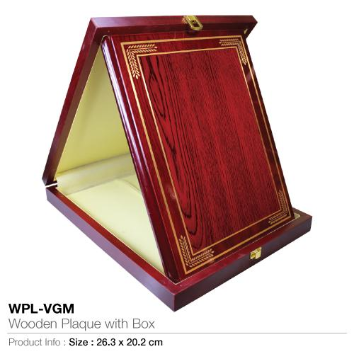 Wooden Plaque with Box WPL-VGM_2