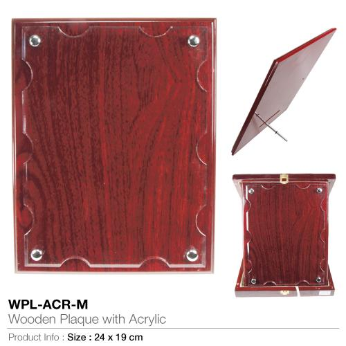Wooden-Plaque with Acrylic WPL-ACR-M_2