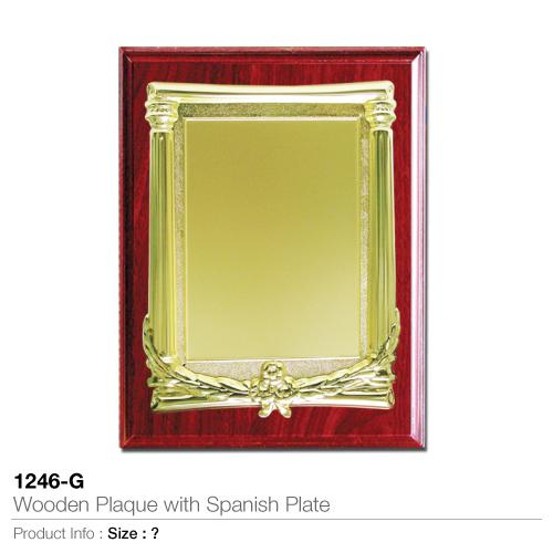 Wooden-Plaque with Spanish Plaque 1246-G_2