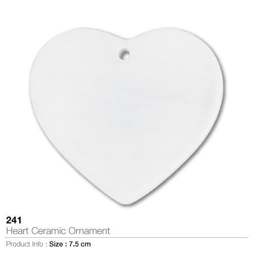 Heart Ceramic Ornament- 241_2