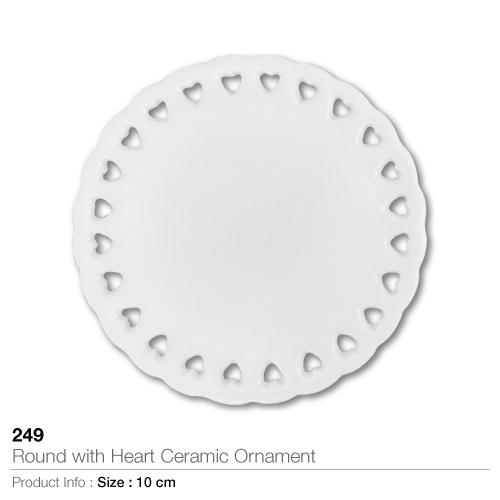Round With Heart Ceramic Ornament- 249_2