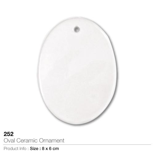 Oval Ceramic Ornament- 252_2