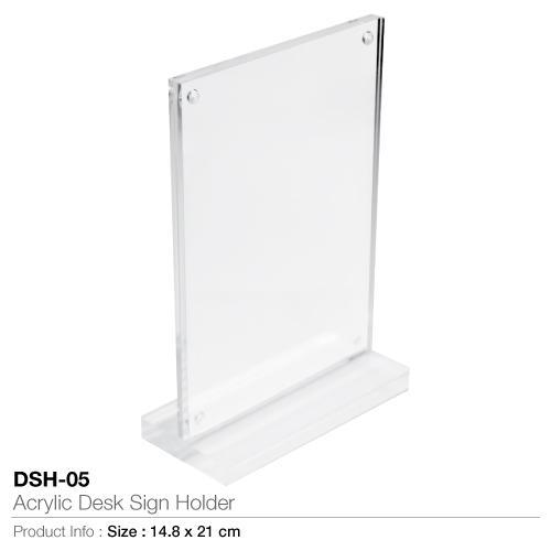 Acrylic Desk Sign Holder-DSH-05_2