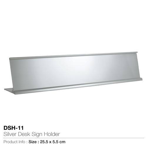 Silver Desk Sign Holder- DSH-11_2