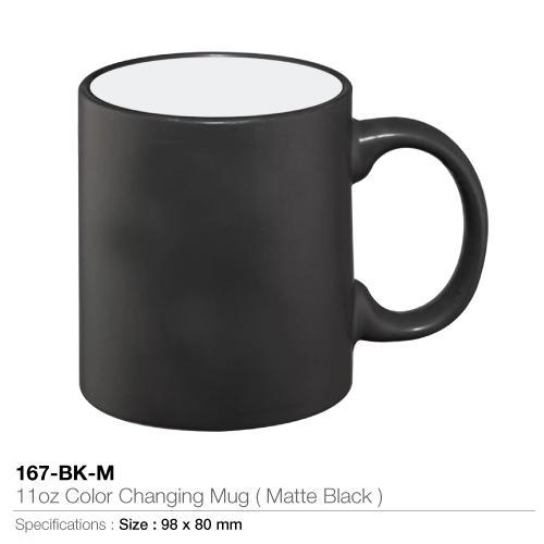 11oz Color changing Mug- Matte Black - 167-BK-M_2