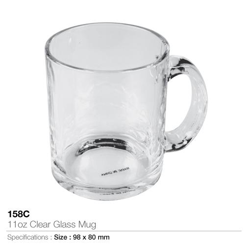 11oz Clear Glass Mug - 158C_2