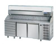 Pizza counter 2 door eko line with 6 pz03ekoc6 1660x800x1200
