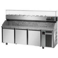 Pizza counter 3 door eko line with 6 pz04ekoc6 2090x800x1200