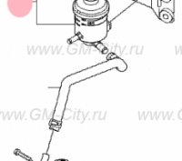 RESERVOIR ASSY-POWER STEERING (57150-2W000)
