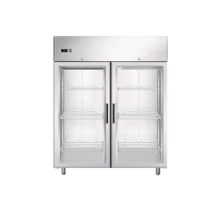 Double glass doors chiller gn 1200gtn