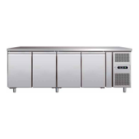 STAINLESS STEEL 4 DOORS REFRIGERATED COUNTER