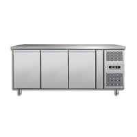 STAINLESS STEEL 3 DOOR REFRIGERATED COUNTER