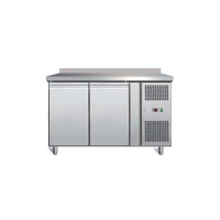 STAINLESS STEEL 2 DOOR REFRIGERATED COUNTER