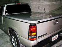 NISSAN TITAN LONG BED FANCY STRAIGHT DESIGN FIBERGLASS TONNEAU COVER 	FCNT8041