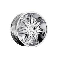 Ultra wheels 22x9.5 chrome wheel platinum shield 6x5.5 - 1 set (4 rims)  216-2288c