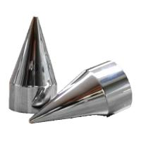 AF DUALLY 33MM ABS CHROME CLASSIC SPIKE LUG COVER CAPS  AFX407