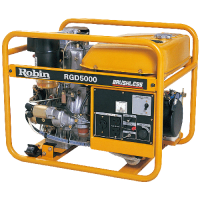 Subaru Robin RGD5000 Long Life Diesel Engine Powered Generators