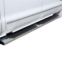 2014+ SIR/SIL DOUBLE CAB GM ASSIST STEPS, 6 INCH RECTANGULAR, CHROME GM22805440