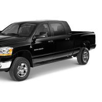 07-13 SIR/SIL CREW CAB DEFLECTA-SHIELD ALUMINUM TRAILBACK RUNNING BOARD , BLACK MX-0194-07B