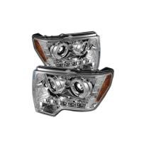 09-13 F150/RAPTOR CHROME DUAL CCFL HALO PROJECTOR HEADLIGHTS  SK3300-61508-Y