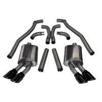 12-14 CAMARO ZL1 6.2L V8 CORSA SPORT CAT-BACK EXHAUST,TWIN DUAL REAR EXIT,BLACK 14971BLK