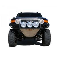 FRONT REPLACEMENT BUMPER WITH SKID PLATE,BLACK T063RSP