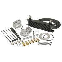 DERALE 10 ROW SERIES 10000 STACK PLATE ENGINE OIL COOLER KIT, SPIN ON ADAPTER 15651