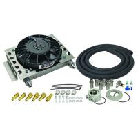 DERALE 15 ROW ATOMIC COOL PLATE FIN REMOTE ENGINE OIL COOLER KIT ( 8 AN ) 15450