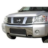 04-08 NISSAN TITAN/ARMADA BILLET GRILLE OVERLAY/BOLT ON 3 PC , LOGO SHOW  15412