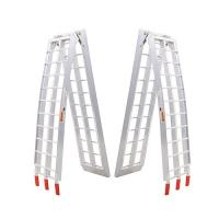 Better built aluminium center folding straight loading ramp 500lb,84x11x2 single 25710005