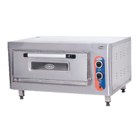 Oven for pizza single electric