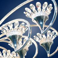 Kny designs k 3808 silver shadow chandelier