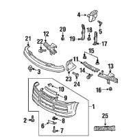 Isuzu 0-28650825-0 moulding clip