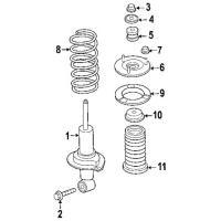 Nissan 01125-0059U Strut Mount bolt_3