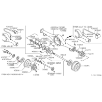 Nissan 01211-00221 differential nut hub bolt