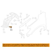 Nissan 01454-N5061 Fender Liner screw