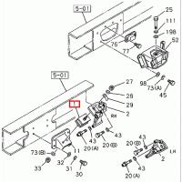 Isuzu 1-53215132-2 Front Engine Cushion