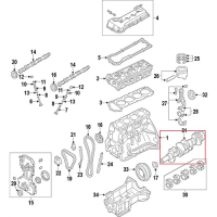 Nissan 12201-3TA0A Crankshaft