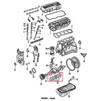 Nissan 12207-40F00 Main Bearing