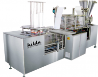 Linear 2 head / nozzle, cup rinsing, filling & sealing machine for yogurt/curd