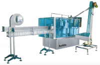 Automatic bottle rinsing, filling and capping machine monoblock type