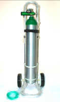 5l aluminum medical oxygen cylinder with trolley
