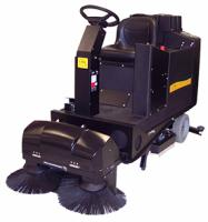 Whisker vacuumized pre-sweep automatic scrubbers