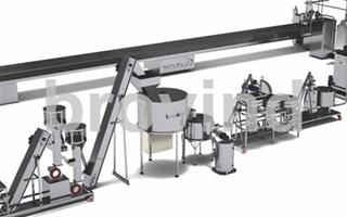 Cocoa beans processing line