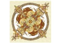 Marion floor medallion marble tile inlay