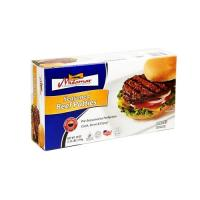 Halal seasoned beef patties