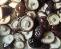 Shiitake in brine in drum
