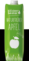 Natural apple in the tetra pak