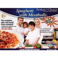 Perfect Choice Halal Spaghetti With Meatballs